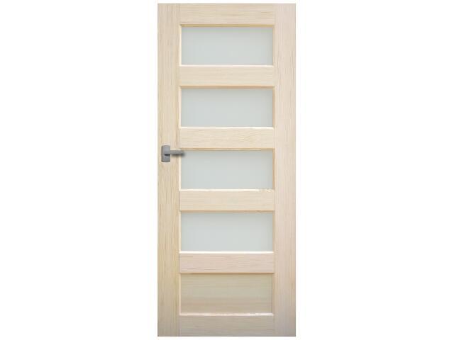 Drzwi sosnowe Istria przeszklone (4 szyby) 80 prawe Radex