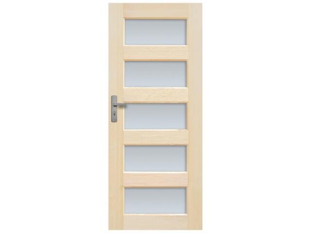 Drzwi sosnowe Istria przeszklone (5 szyb) 100 prawe Radex