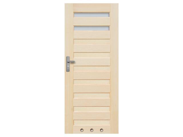 Drzwi sosnowe Regent przeszklone (2 szyby) z tulejami 60 prawe Radex