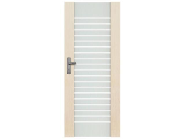 Drzwi sosnowe Modena przeszklone z aplikacją (1 szyba) 80 lewe Radex