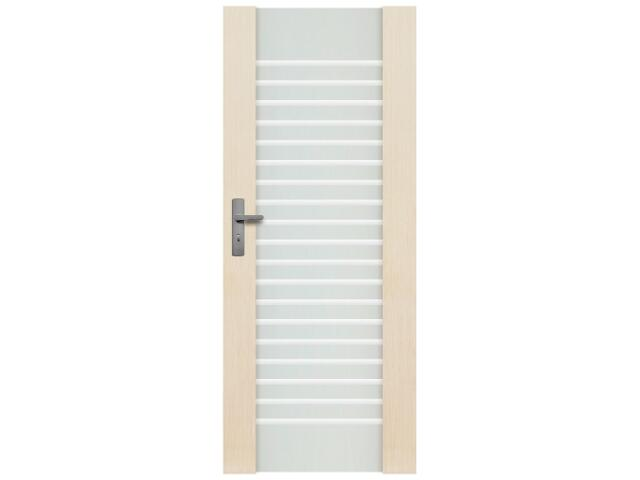 Drzwi sosnowe Modena przeszklone z aplikacją (1 szyba) 100 prawe Radex