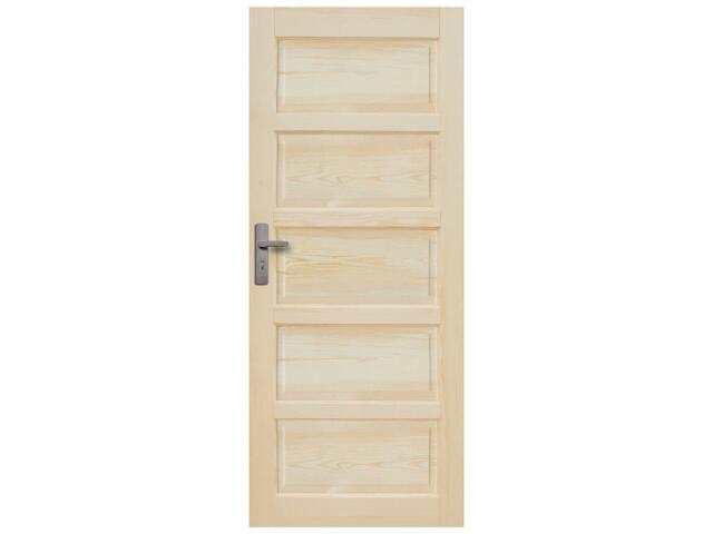 Drzwi sosnowe Sevilla pełne 80 prawe Radex