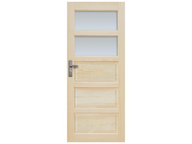 Drzwi sosnowe Sevilla przeszklone (2 szyby) 80 prawe Radex