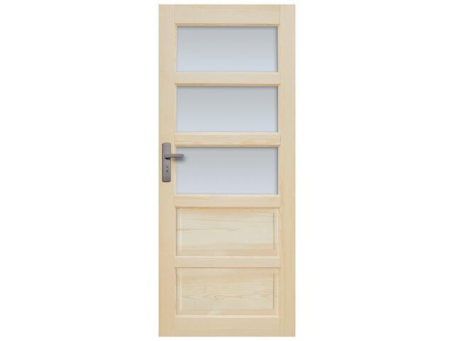 Drzwi sosnowe Sevilla przeszklone (3 szyby) 100 prawe Radex