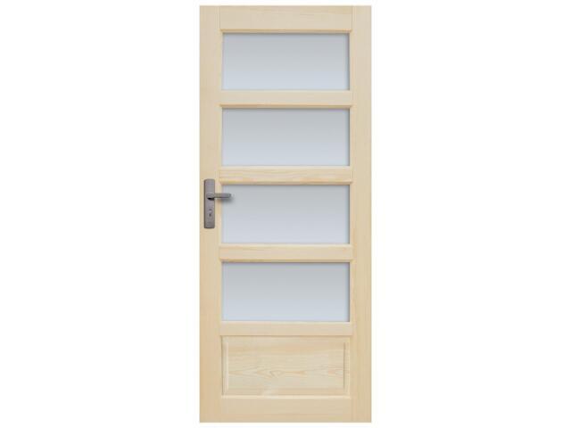 Drzwi sosnowe Sevilla przeszklone (4 szyby) 100 lewe Radex