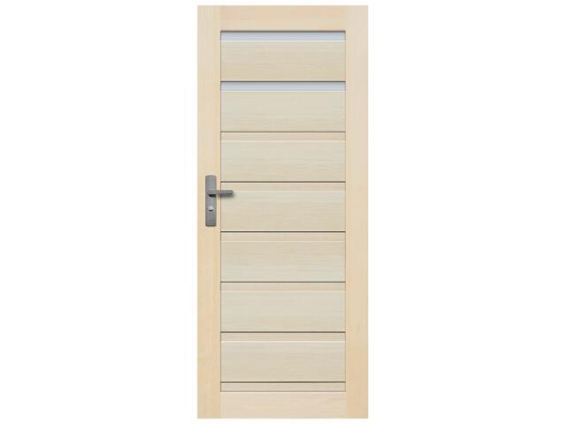 Drzwi sosnowe Barcelona przeszklone (2 szyby) 100 prawe Radex