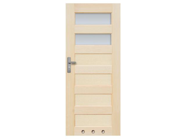Drzwi sosnowe Manhattan przeszklone (2 szyby) z tulejami 90 prawe Radex