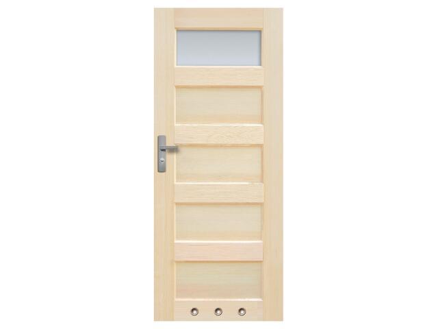 Drzwi sosnowe Istria przeszklone (1 szyba) z tulejami 90 prawe Radex