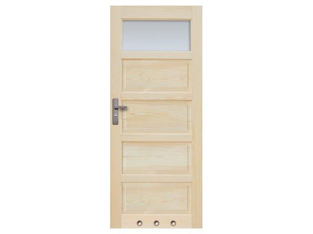 Drzwi sosnowe Sevilla przeszklone (1 szyba) z tulejami 60 prawe Radex