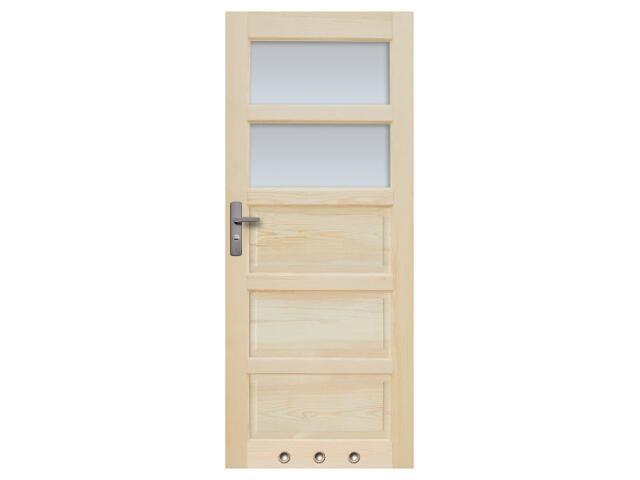 Drzwi sosnowe Sevilla przeszklone (2 szyby) z tulejami 90 lewe Radex