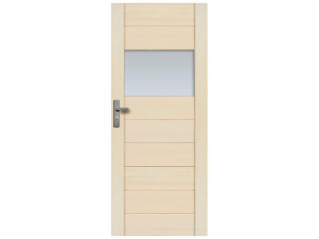 Drzwi sosnowe Praga przeszklone (1 szyba) 60 prawe Radex