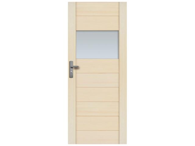 Drzwi sosnowe Praga przeszklone (1 szyba) 90 prawe Radex
