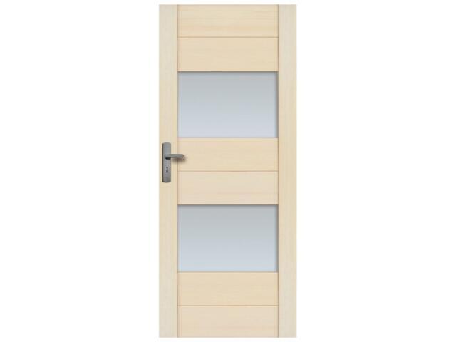 Drzwi sosnowe Praga przeszklone (2 szyby) 100 lewe Radex