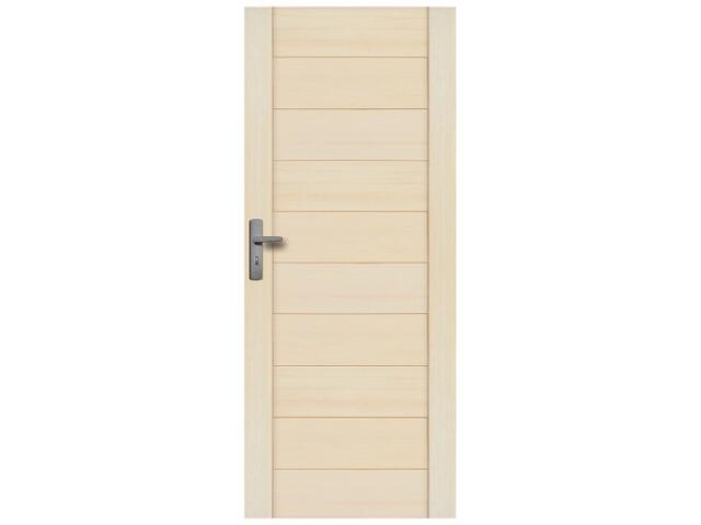 Drzwi sosnowe Praga pełne 90 lewe Radex