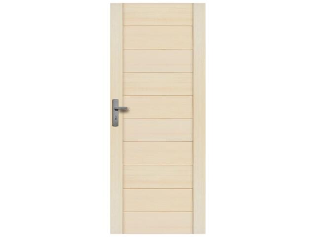 Drzwi sosnowe Praga pełne 100 lewe Radex