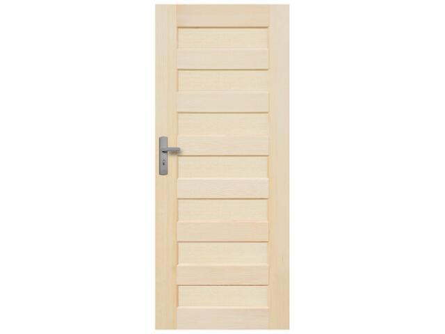 Drzwi sosnowe Panama pełne 80 prawe Radex