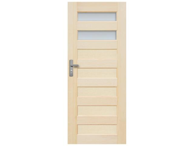 Drzwi sosnowe Panama przeszklone (2 szyby) 60 lewe Radex