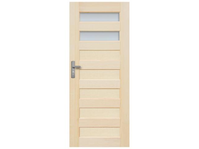 Drzwi sosnowe Panama przeszklone (2 szyby) 80 prawe Radex