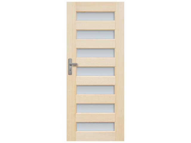 Drzwi sosnowe Panama przeszklone (7 szyb) 60 lewe Radex