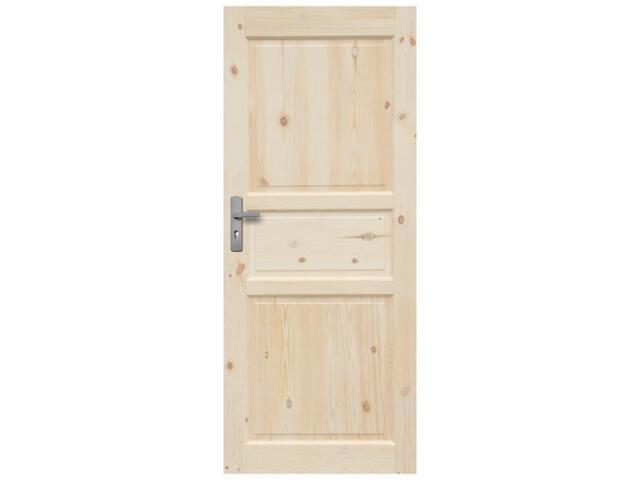 Drzwi sosnowe Normandia pełne 90 prawe Radex