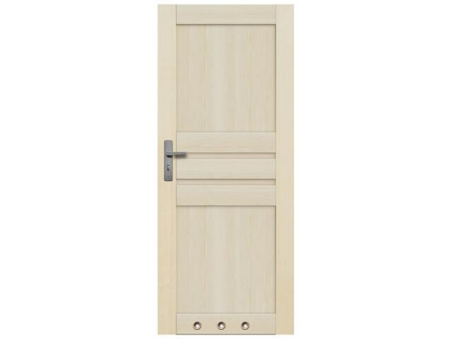 Drzwi sosnowe Madryt pełne 70 lewe 3 tuleje Radex