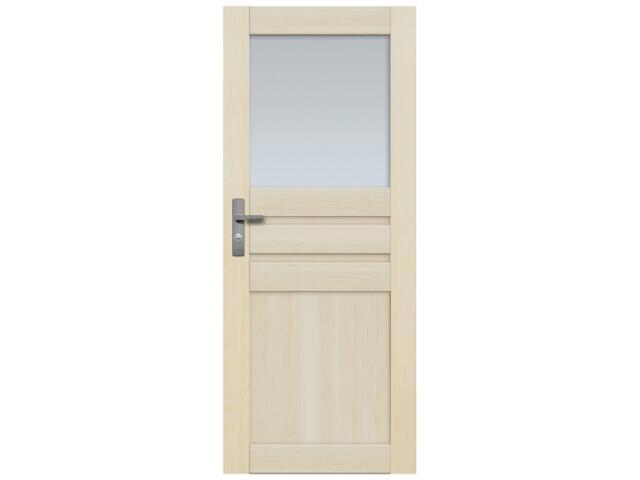 Drzwi sosnowe Madryt przeszklone (1 szyba) 70 prawe Radex