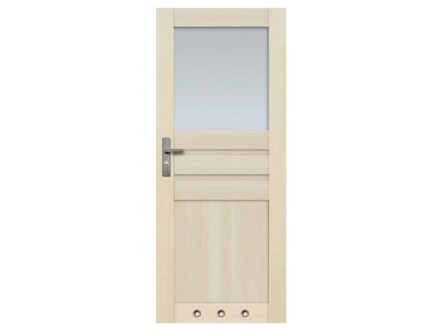 Drzwi sosnowe Madryt przeszklone (1 szyba) z tulejami 90 lewe Radex