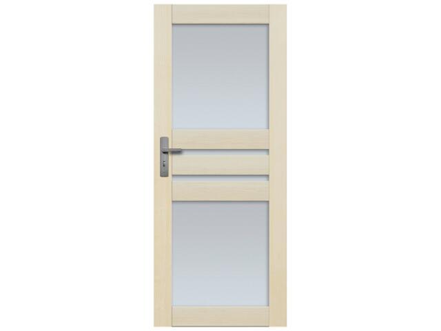 Drzwi sosnowe Madryt przeszklone (4 szyby) 70 lewe Radex