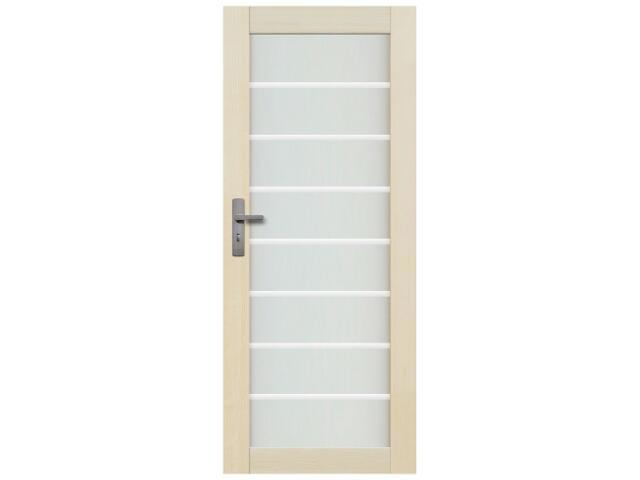 Drzwi sosnowe Lazio przeszklone z aplikacją paski 90 prawe Radex