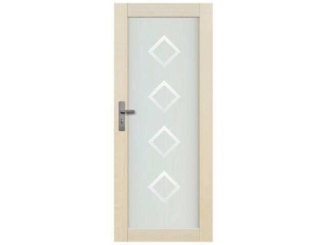 Drzwi sosnowe Lazio przeszklone z aplikacją romby 70 lewe Radex