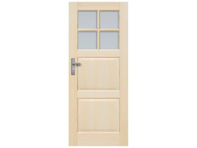 Drzwi sosnowe Turyn przeszklone (4 szyby) 60 lewe Radex