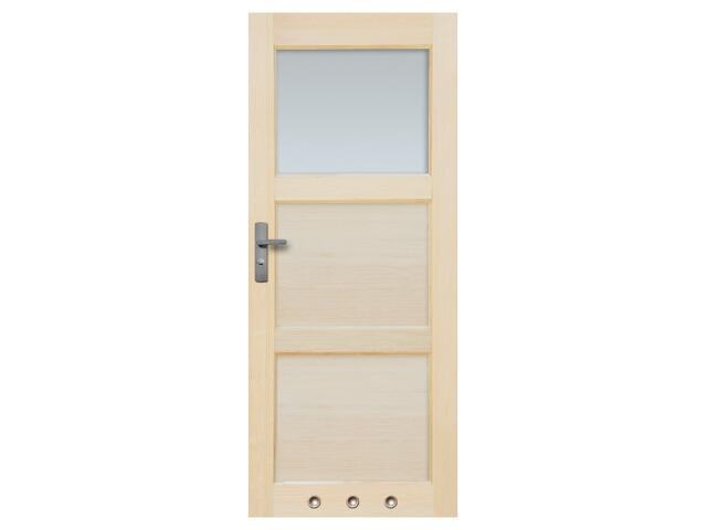 Drzwi sosnowe Bort przeszklone (1 szyba) z tulejami 60 lewe Radex