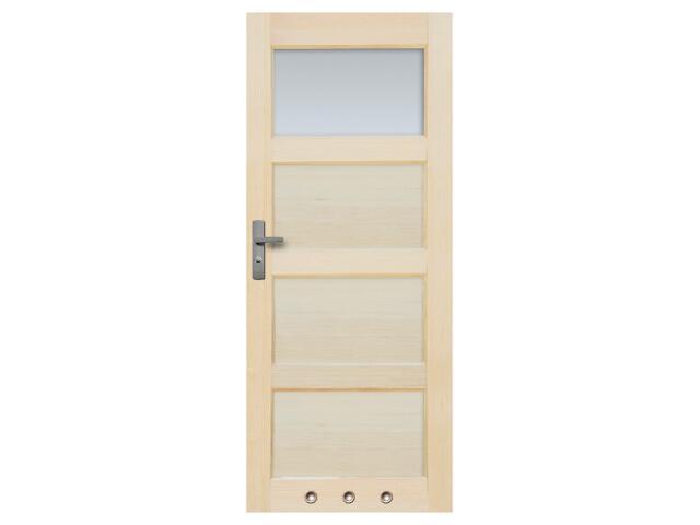 Drzwi sosnowe Obsydian przeszklone (1 szyba) z tulejami 90 prawe Radex