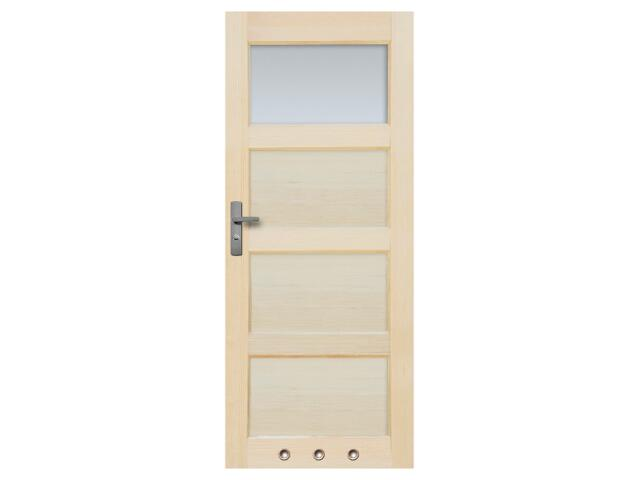 Drzwi sosnowe Obsydian przeszklone (1 szyba) z tulejami 100 prawe Radex
