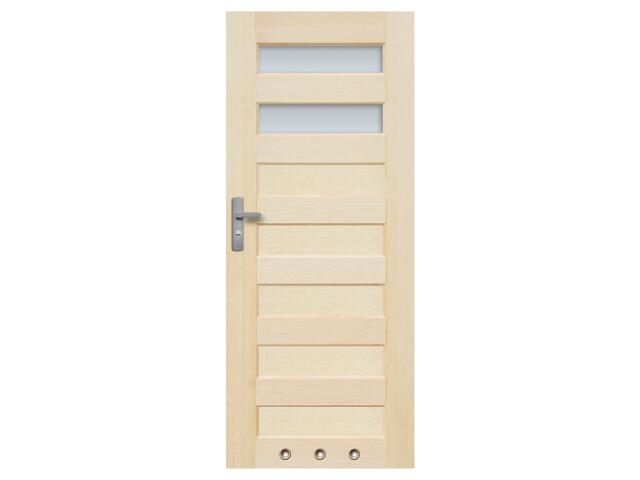 Drzwi sosnowe Panama przeszklone (2 szyby) z tulejami 100 lewe Radex