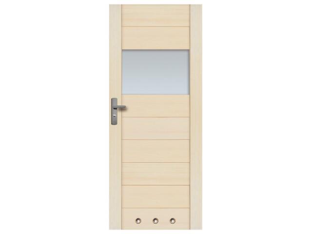 Drzwi sosnowe Praga przeszklone (1 szyba) z tulejami 100 lewe Radex