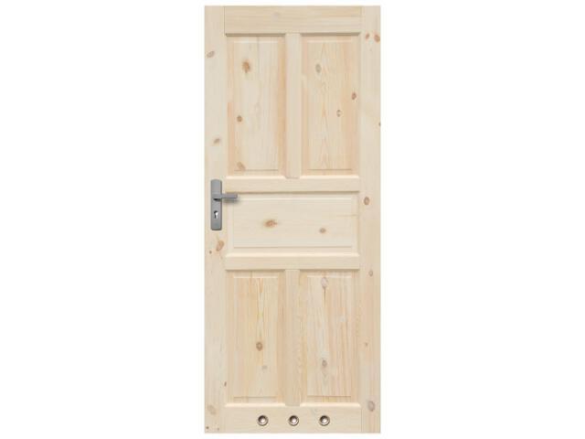 Drzwi sosnowe Londyn pełne 70 prawe 3 tuleje Radex