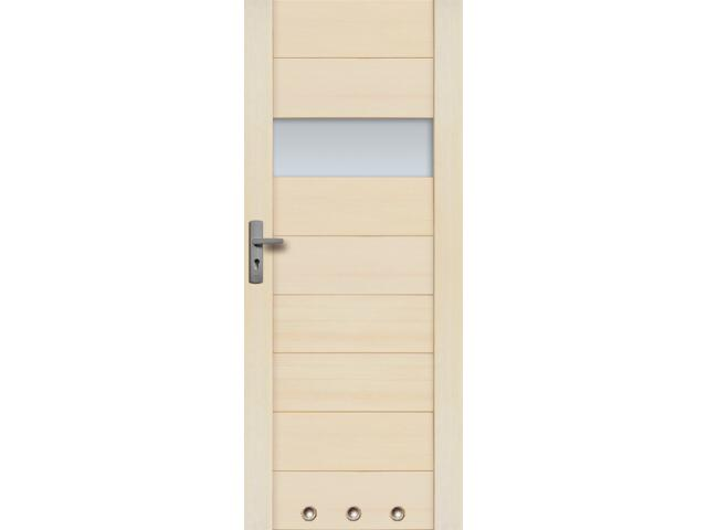 Drzwi sosnowe Asturia przeszklone (1 szyba) z 3 tulejami 60 lewe Radex