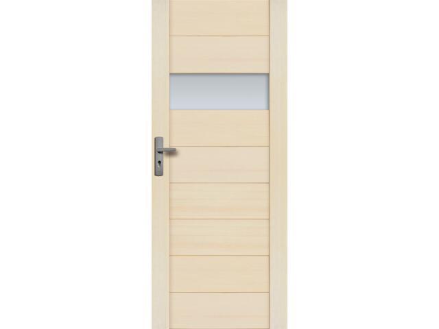 Drzwi sosnowe Asturia przeszklone (1 szyba) 60 prawe Radex