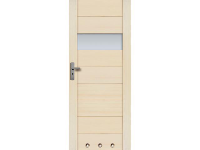 Drzwi sosnowe Asturia przeszklone (1 szyba) z 3 tulejami 80 prawe Radex