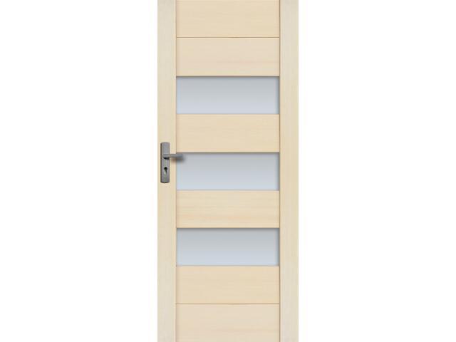 Drzwi sosnowe Asturia przeszklone (3 szyby) 90 prawe Radex