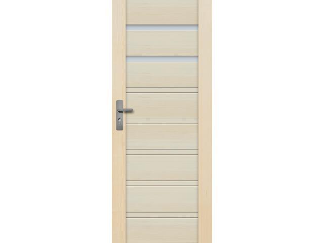 Drzwi sosnowe Malaga przeszklone (2 szyby) 100 lewe Radex