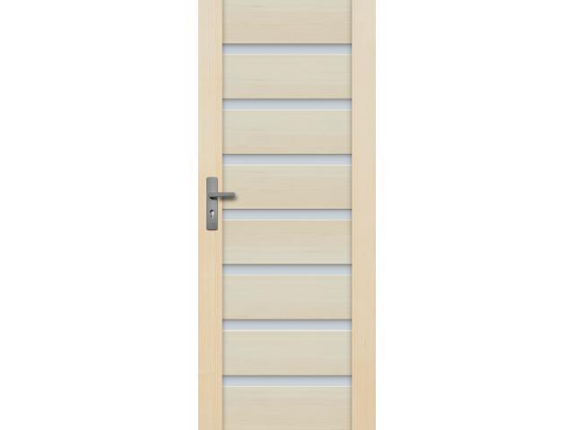 Drzwi sosnowe Malaga przeszklone (7 szyb) 100 prawe Radex