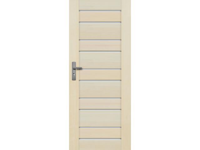 Drzwi sosnowe Marbella przeszklone (10 szyb) 60 prawe Radex