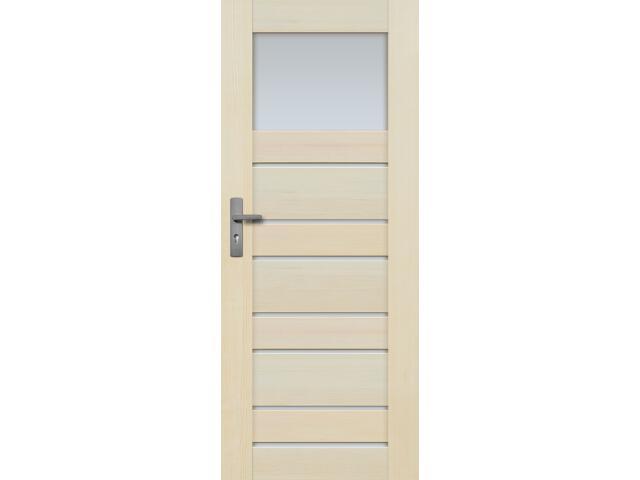 Drzwi sosnowe Marbella przeszklone (8 szyb) 80 prawe Radex
