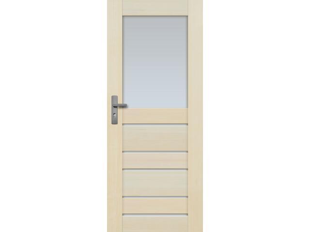 Drzwi sosnowe Marbella przeszklone (6 szyb) 60 lewe Radex