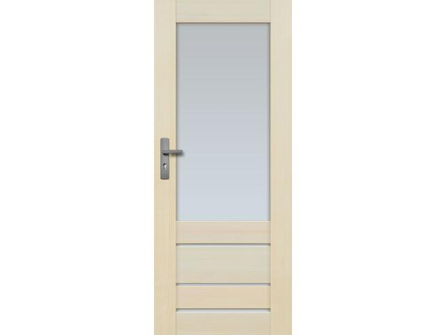 Drzwi sosnowe Marbella przeszklone (4 szyby) 70 prawe Radex