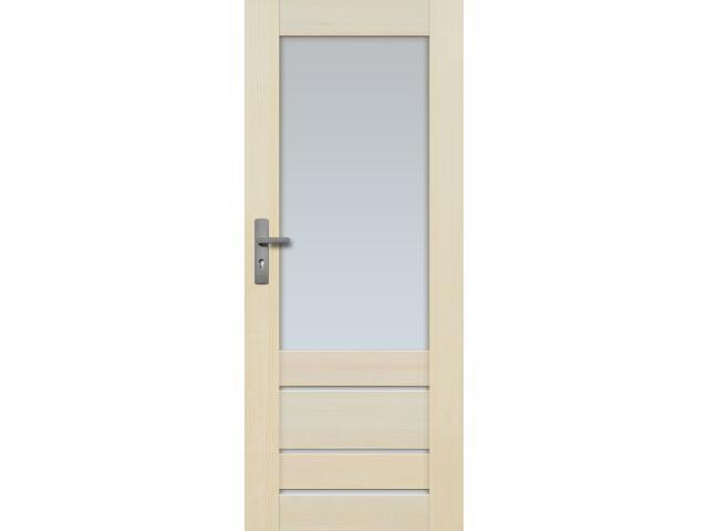 Drzwi sosnowe Marbella przeszklone (4 szyby) 80 prawe Radex