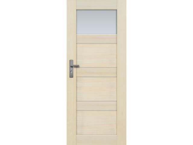 Drzwi sosnowe Nefryt przeszklone (1 szyba) 70 lewe Radex