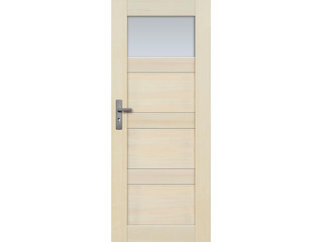 Drzwi sosnowe Nefryt przeszklone (1 szyba) 80 lewe Radex